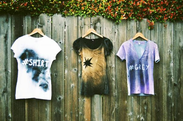 How to paint clothes with spray paint