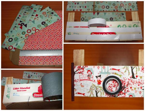 How to recycle strawberry boxes - Lining strawberry boxes