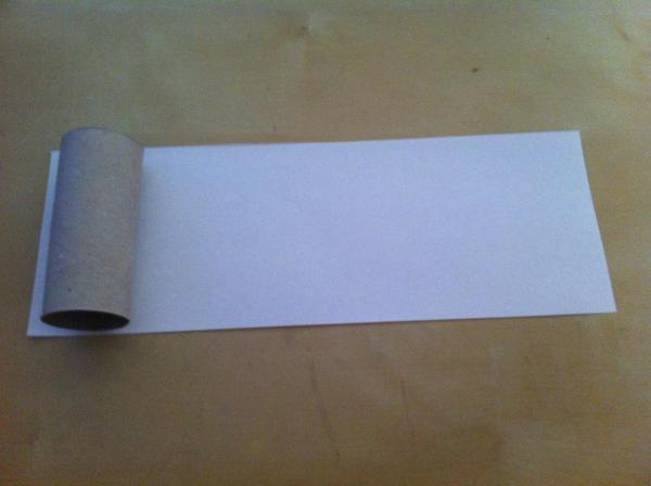 How to make a mushroom with a toilet paper roll - Step 1