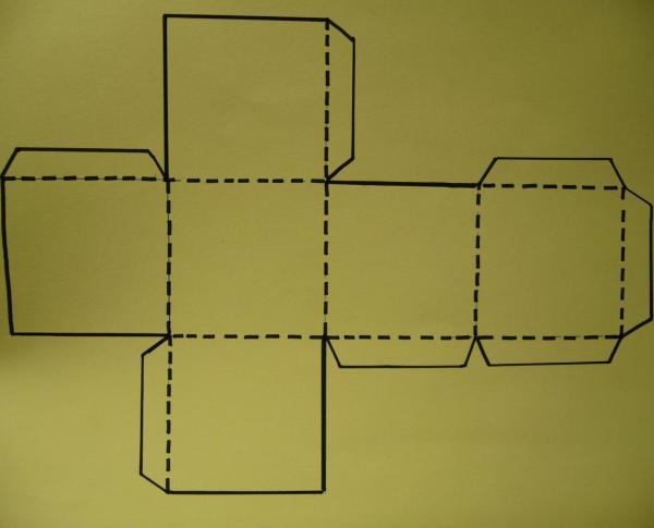 How to make a cardboard die - Step 1