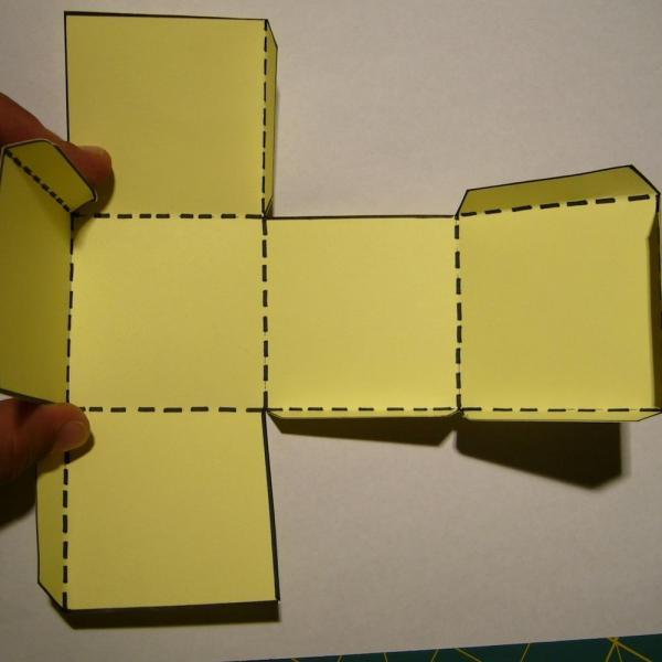 How to make a cardboard die - Step 3