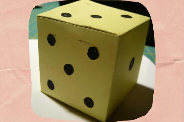 How to make a cardboard dice