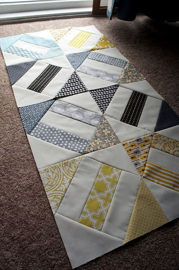 treadmill rug made with fabric scraps