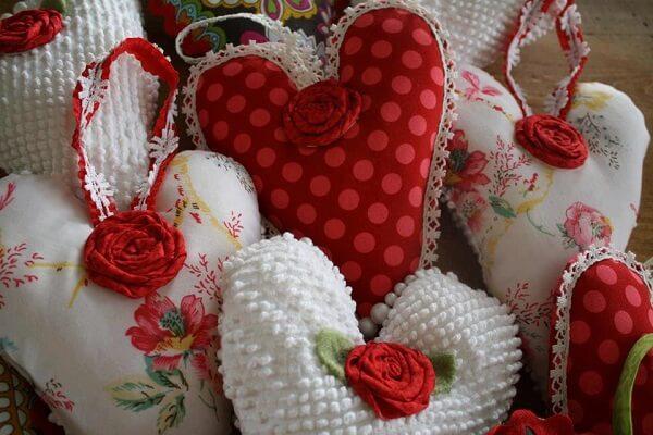 Sachê perfumado em formato de coração