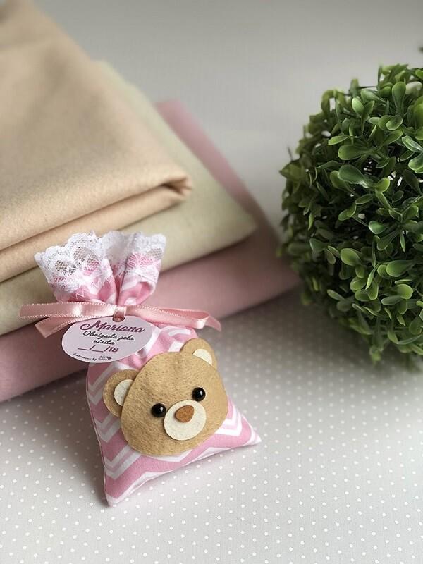 Sachê perfumado para lembrancinha em formato de urso