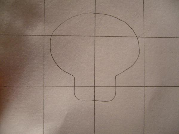 How to draw a skull - Step 2