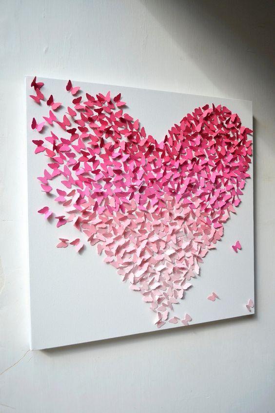 Artesanatos fáceis com borboletas de papel