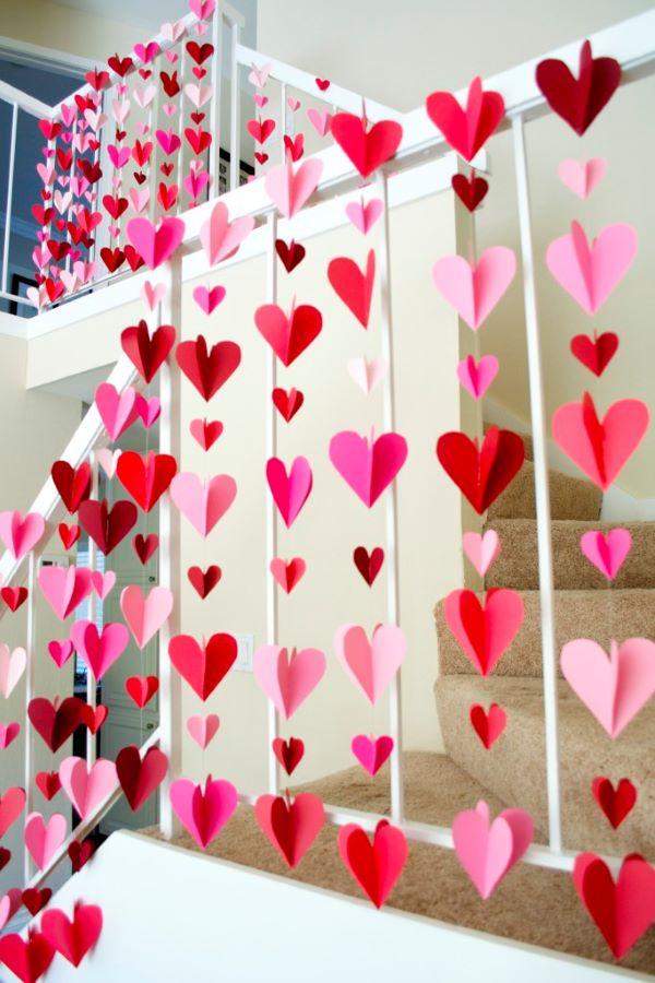 Artesanatos fáceis com papel de coração