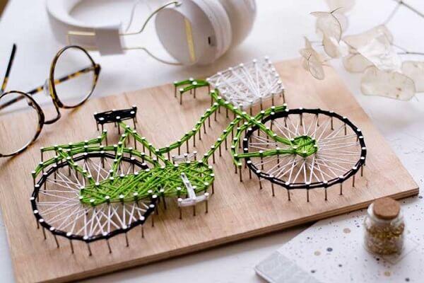Molde string art com traços delicados