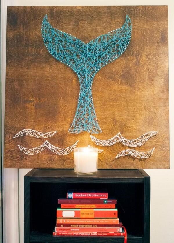 Reserve um espaço especial na sua casa para aplicar a técnica string art
