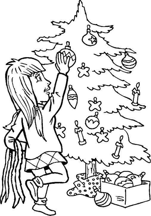 Christmas Trees to Colour - Christmas Tree Design to Colour