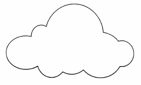 Molde de nuvem em feltro