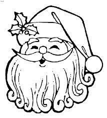 Santa's face to color - Step 1