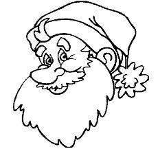 Santa's face to color - Step 2