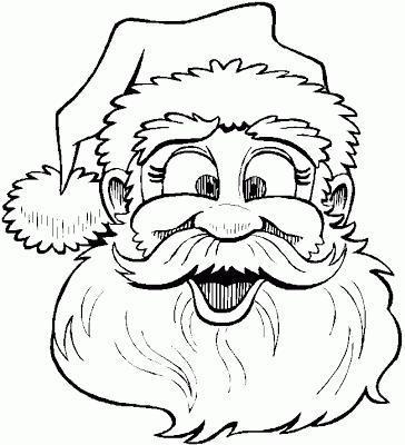 Santa's face to color - Step 4