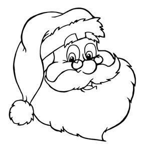 Santa's face to color