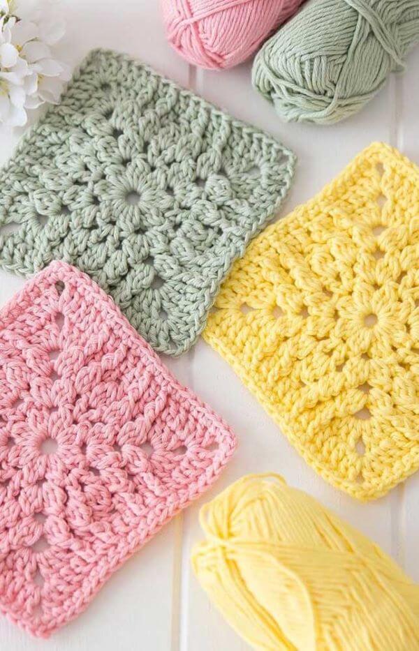 Crochê para iniciantes colorido e fácil de fazer
