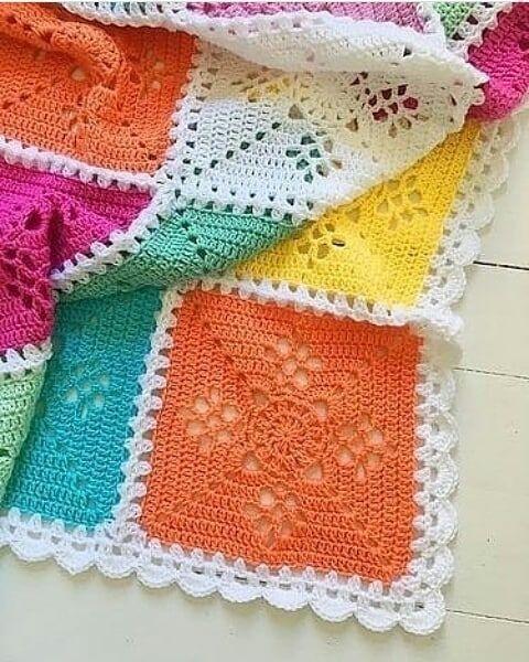 Tapete de crochê para iniciantes colorido