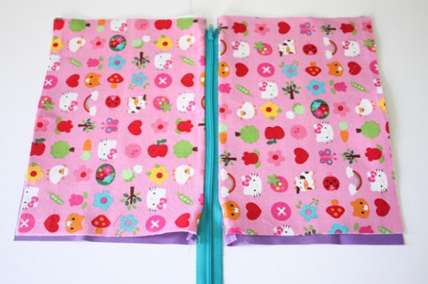 How to make a fabric necessaire - Step 3