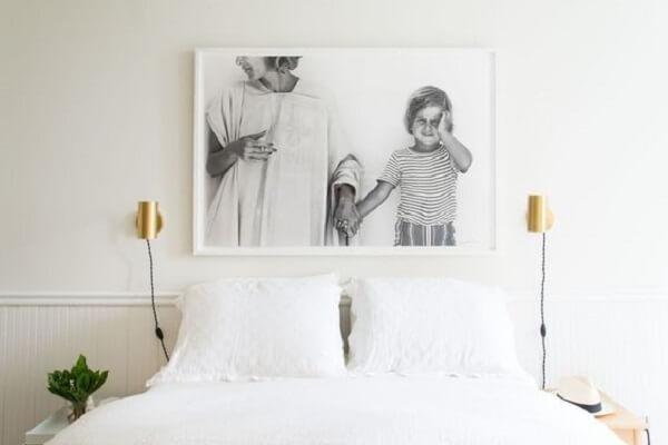 Quadro de fotos para quarto de casal