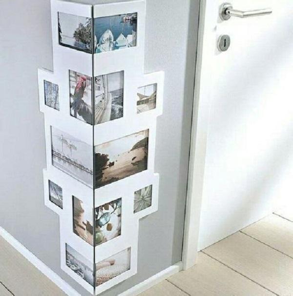 Quadro de fotos para espaços reduzidos