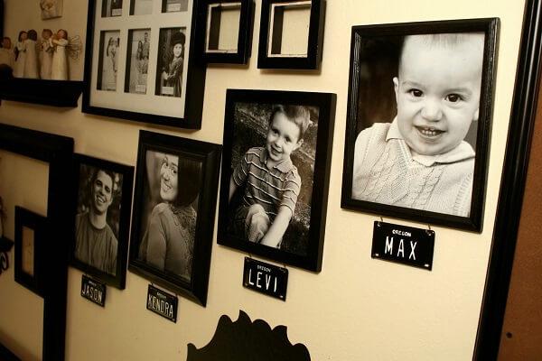 Quadro de fotos retrata o desenvolvimento da criança