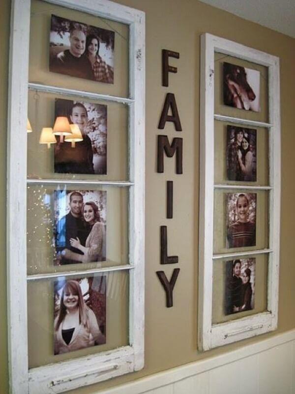 Aproveite a estrutura de uma janela para criar um quadro de fotos