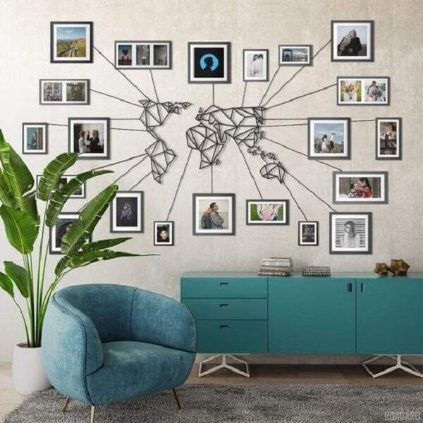 Quadro de fotos para sala de estar