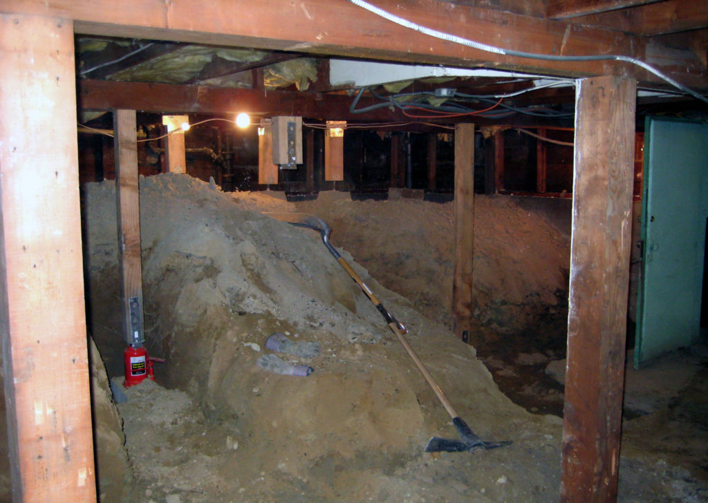 How much does a concrete crawl space cost?