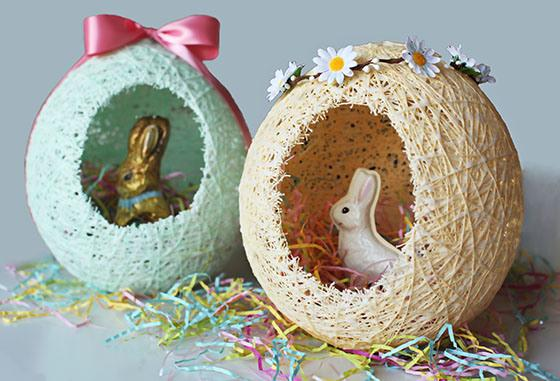 How to make an Easter basket with string - Step 8